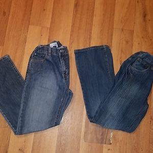 2 for 1 est1989+rustic blue Jean's size 14(jr)